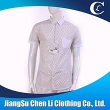 High quality 100% cotton casual men short sleeve shirt