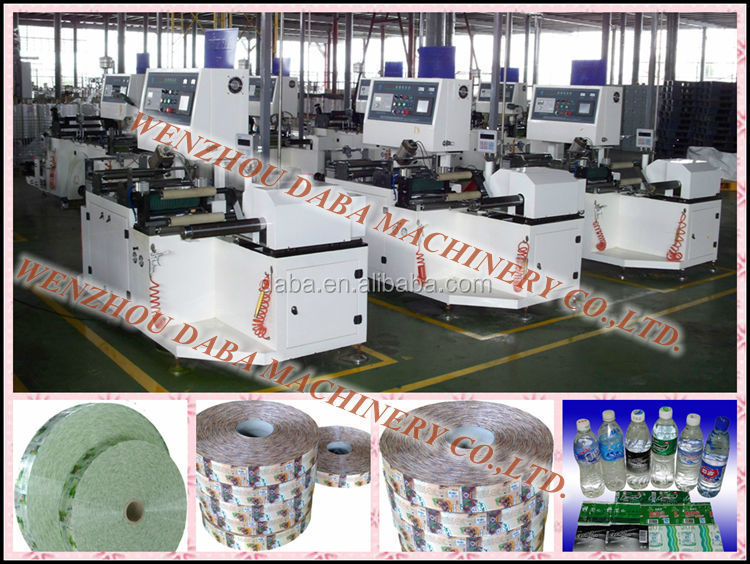 High Speed Perforation Sleeve Sealing Bottle Label Inspection Rewinder