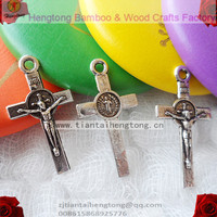 2000pcs/bag mini rosary bracelet cross, religious Crucifix , mini Cross of Saint Benedict, metal alloy cross