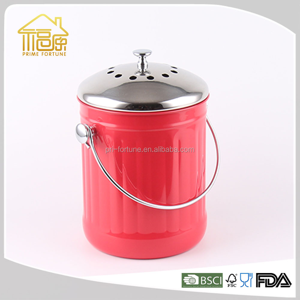 Stainless steel deodorant compost bin /Foot Compost Wizard /Food Waste Compost Container.