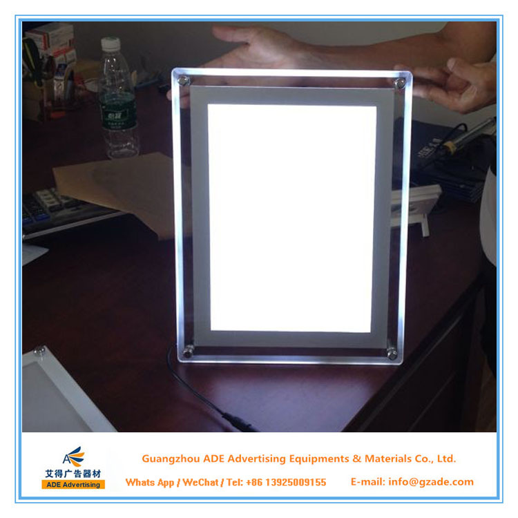 Economic and Efficient table stand LED Acrylic Light Box