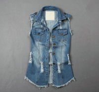 latest design women's denim vest