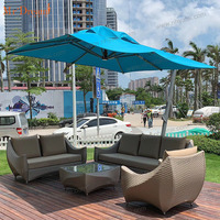 Mr.Dream best selling waterproof custom garden furniture outdoor rattan sofa