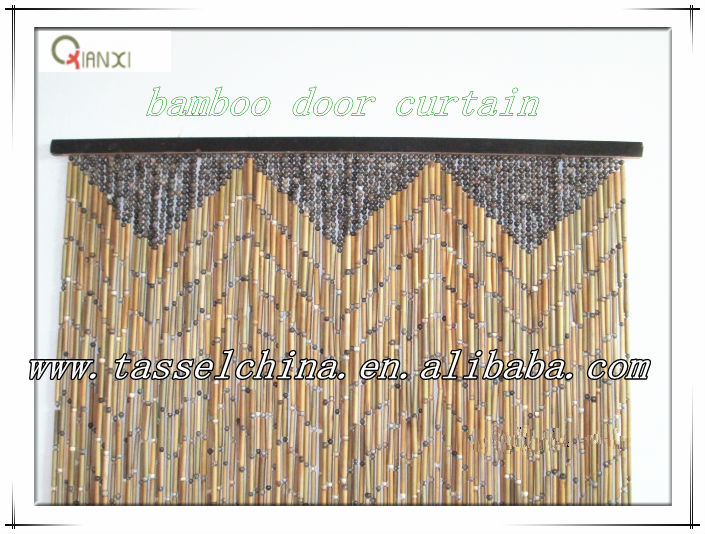 Eco-friendly bamboo door curtain for home decor