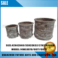 Various Sizes Thick Round Resin Flower Pot
