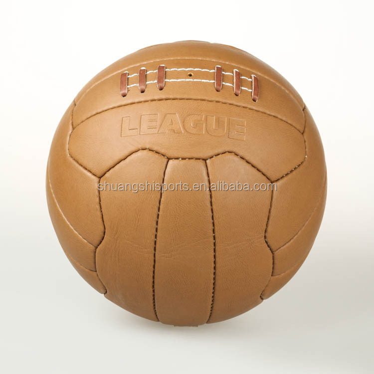 hand sewn vintage leather retro soccer ball/football