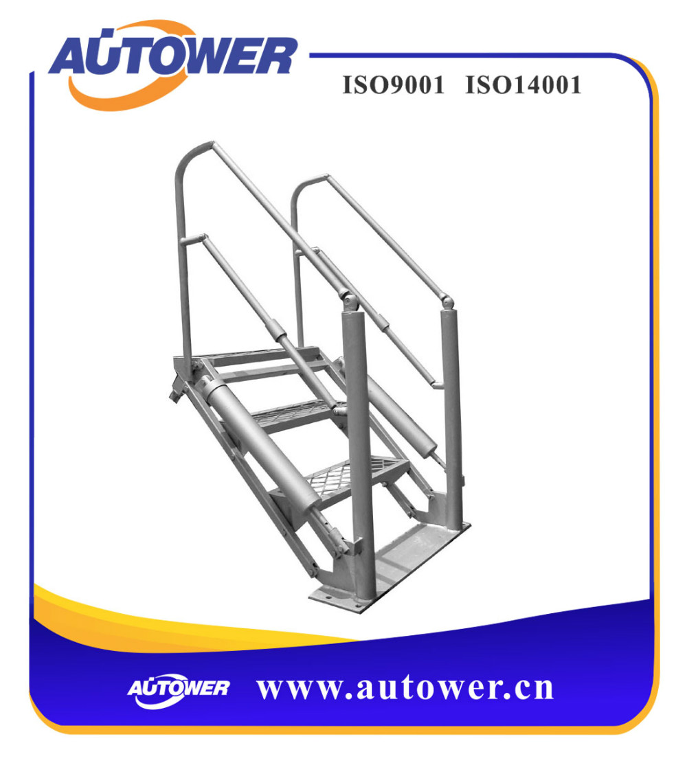 Spring cylinder balance aluminium portable rolling stairs