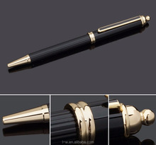 B0078 Hot Trending Products Stylish Black Metal Rolling Ball Point Pen