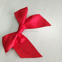 High quality zeal-x packing red satin ribbon bow