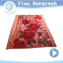 Hot selling blanket double sided plush raschel blanket