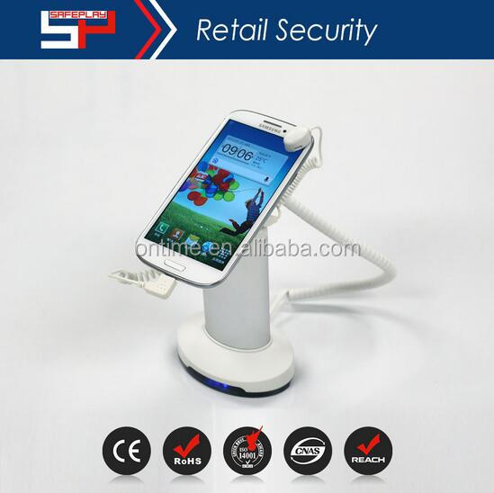 mobile phone display stand security anti-theft charging holder alarm lock ONTIME SP2102