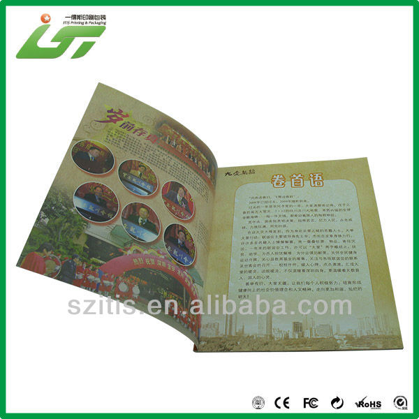 company gloss paper printing flyer hot sale