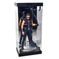 "MB LED Light House Acrylic Case for 12"" 1/6 Scale Action Figure Figurine LED Light Display Case"