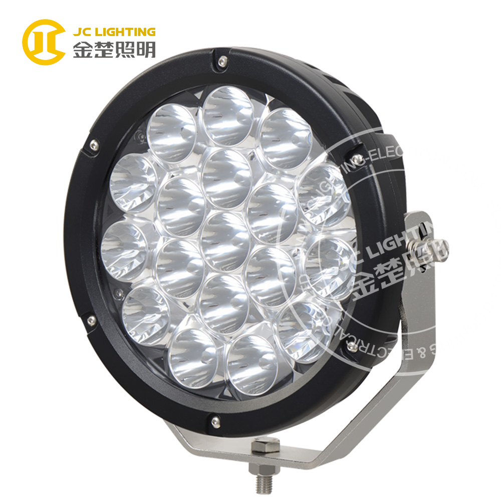 Round 180W Cree led chip 18PCS*10W 9 inch led off road work light with big reflector