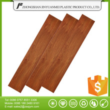 PVC wood floor red tree texture vinyl tiles plastic planks with click system