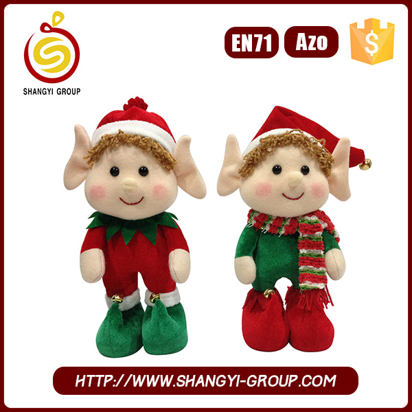 High quality christmas plush elf on shelf plush toy for kids