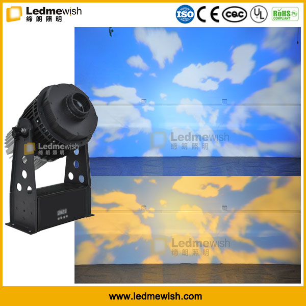 self-developed outdoor 150W blue sky effect led gobo light projection