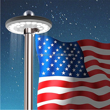 waterproof hot sale 26LED solar flag pole light for American market