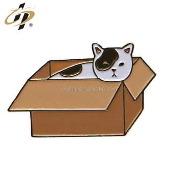 Wholesale customize animal enamel cat badge pins in metal crafts
