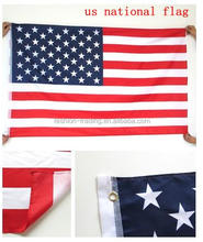 Promotional wholesale 3x5 fts Printed American country Flag with 100% polyester fabric