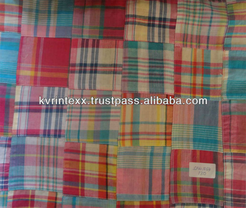 chinese patchwork fabric with floral pattern