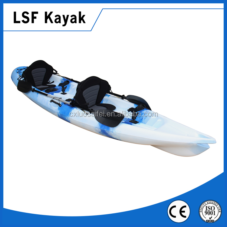 Double fishing kayak for wholesale blue and white color for Double fishing kayak