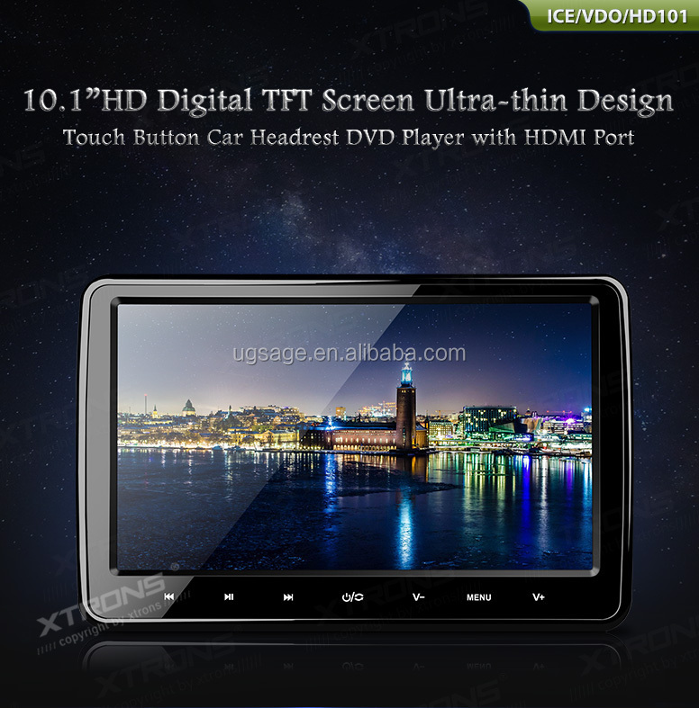 2015 Xtrons New Sell -HD101-Car Headrest DVD Player with HDMI Port