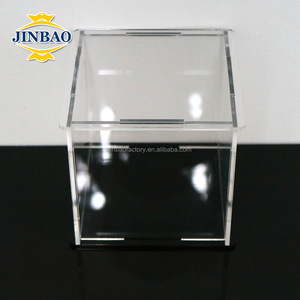 JINBAO factory custom OEM acrylic 5-sided box storage display box with base