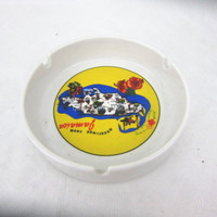 ceramic ashtray with logo for gift promotion