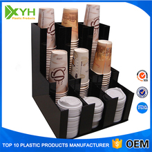 Wholesale Eco-friendly PMMA Coffee Cups Counter Display Rack Acrylic Coffee Mug Display Stand for Shop
