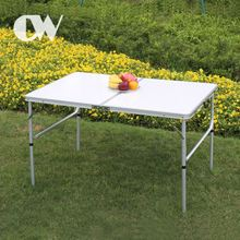 chinese factory camping outdoor foldable aluminium 4 feet lightweight portable white short folding table