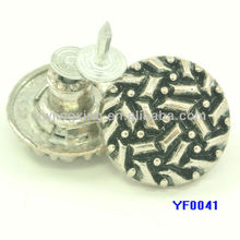 metal button for jeans with nice diamond