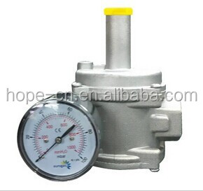 1bar DN15 Aluminum gas regulator with gauge