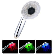 ABS LED Bathroom Hand Shower, Light Color Changed in Different Water Temperature, No Need Battery, X17802