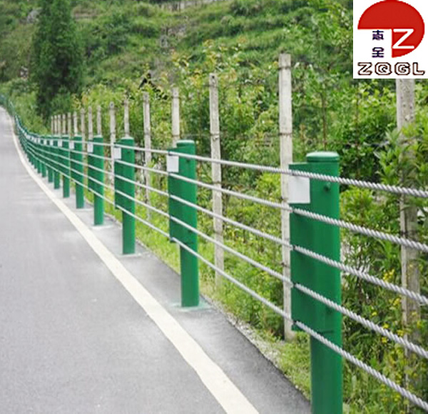 Steel Cable Guardrail Barrier for Road and Highway Safety