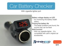 Car Battery Checker with cigarette lighter KingNeed C11