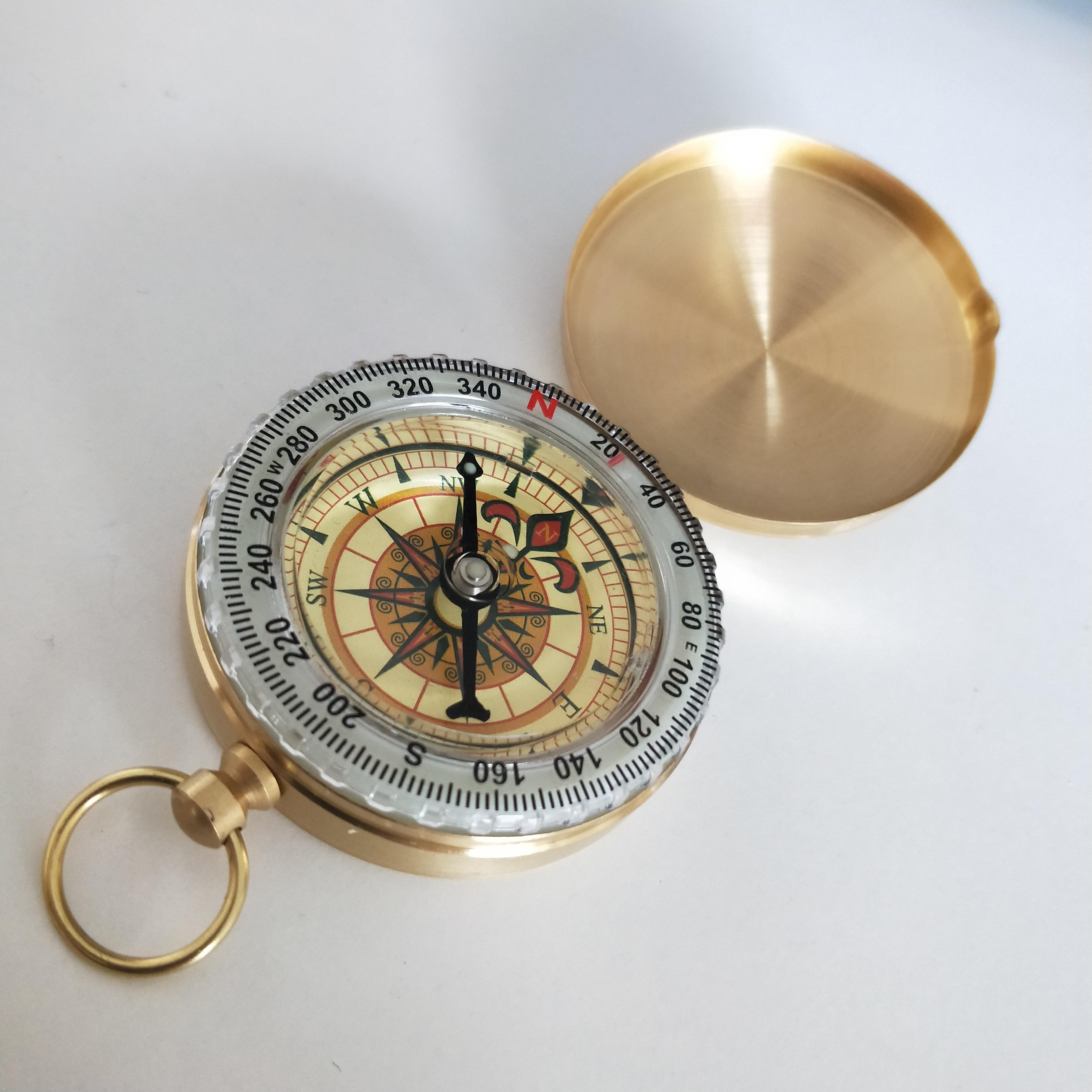 Antique Brass Pocket Compass Nautical Marine Compass Lot Of 100 Pieces Compass