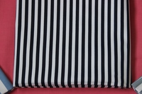 plain custom design print navy blue and white stripe fabric