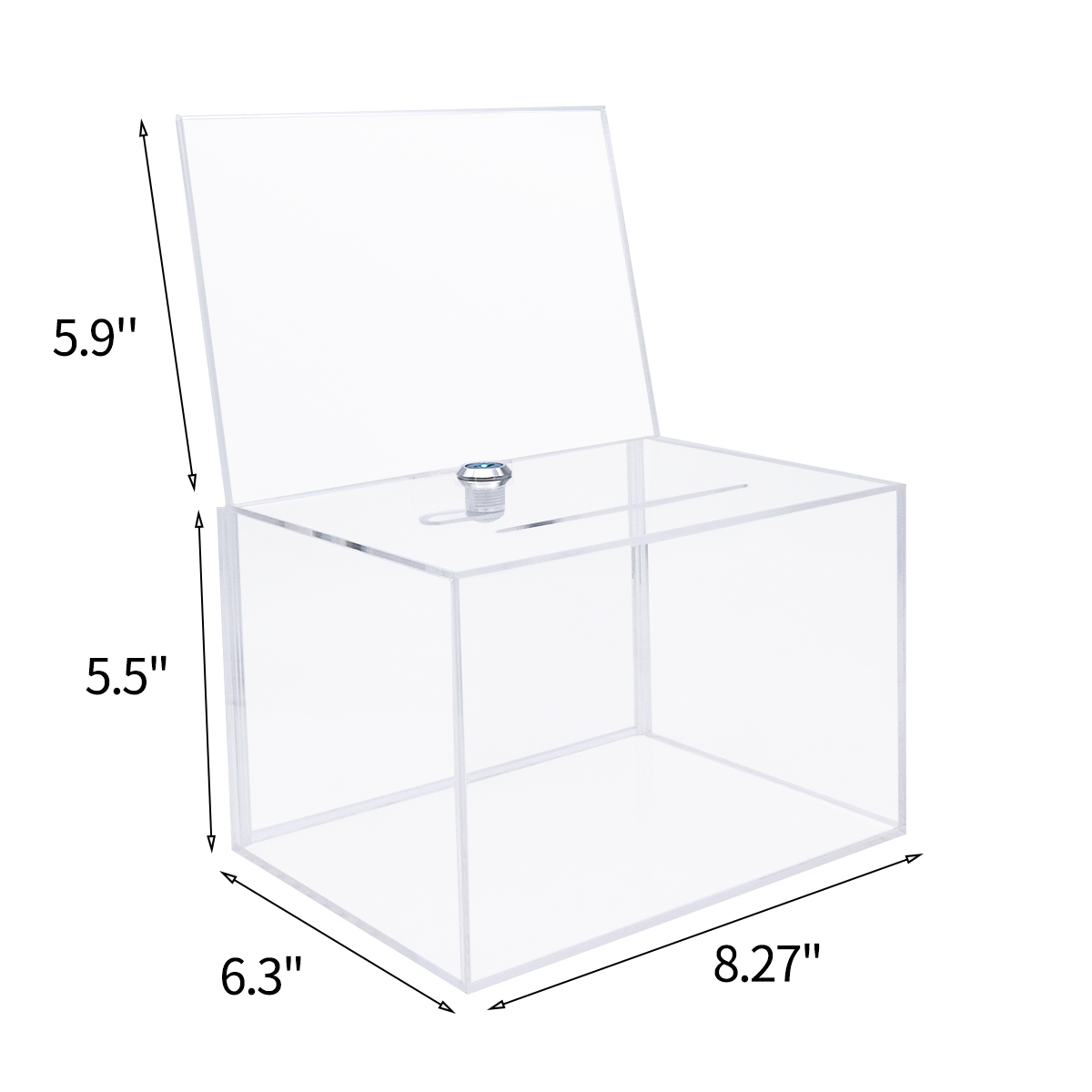 wholesale acrylic charity donation box/large donation box