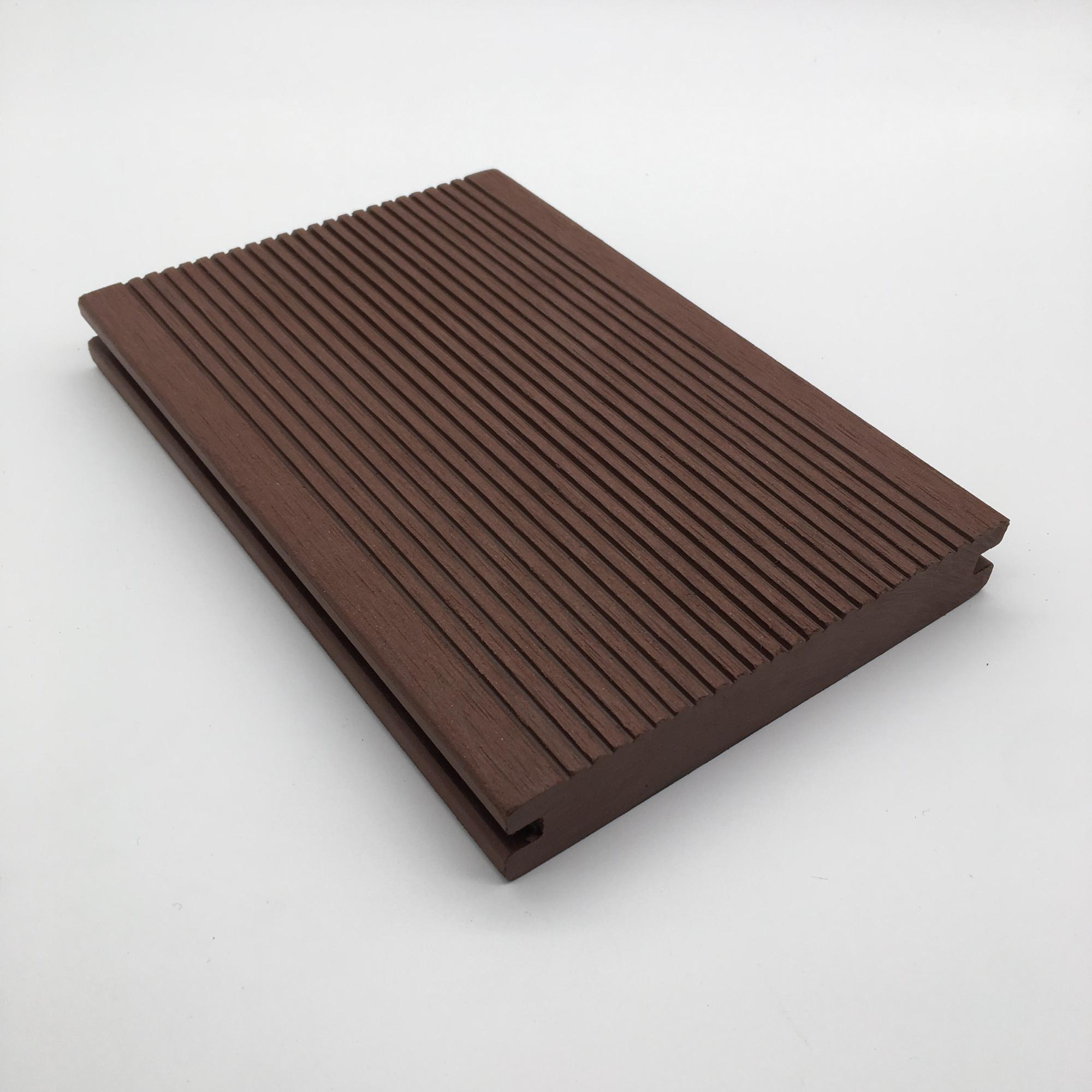 wpc solid grooved composite flooring deck tile decking