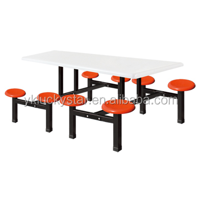 canteen table school dinning table and chair round chair set