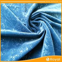 New Fashion Warp Knit Stretch Ice Point Velvet Fabric