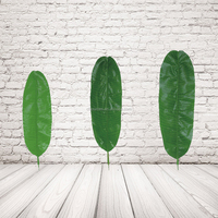 Artificial Tropical Banana Leaves For Wall Decoration