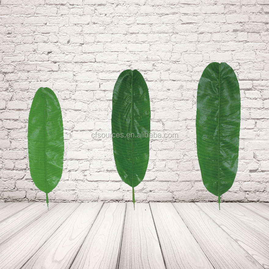 Artificial tropical leaves artificial banana leaves for for Artificial banana leaves decoration
