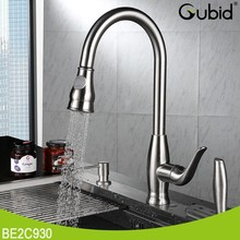 single lever 304 stainless steel kitchen faucet pull out