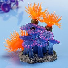 Wholesale Price High Quality Soft Artificial Vivid Resin Coral Aquarium Aquatic Fish Tank Decoration Ornament