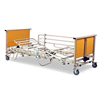 New product top quality electric lift bed with full protection folding guardrall