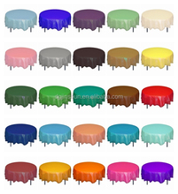 Summer seasonal plastic round table covers,colorful disposable tablecloth