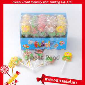 Halal Funny Flower shape Gummy Candy in Display Box