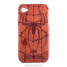 Cool Spider Pattern Mobile Phone Back Covers for iPhone6 6plus Natural Wood Case